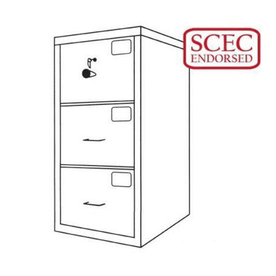 Cmi C Class 3 Drawer Filing Cabinet Gcc3 Safeguard Safes