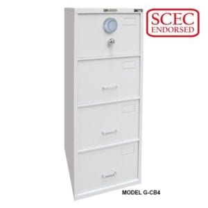 CMI B Class 4 Drawer Filing Cabinet G-CB4 - Safeguard Safes