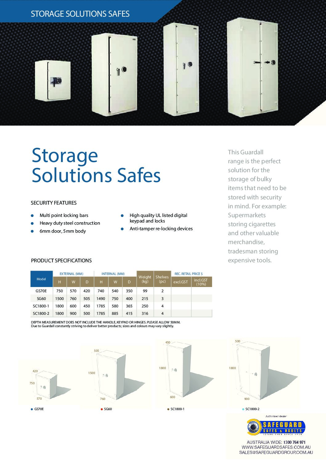 Storage Solution Safes [Guardall]