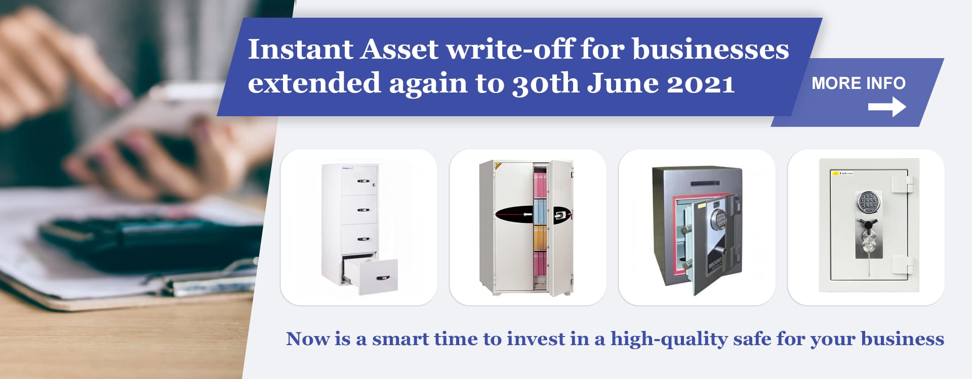 invest in a safe to get instant asset write-off 2021